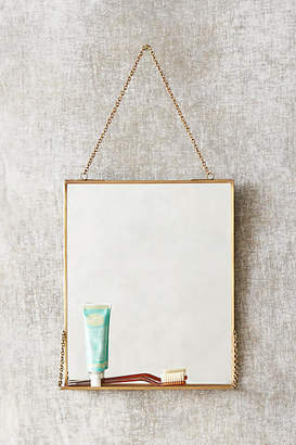 Anthropologie Brass Mirror Shelf