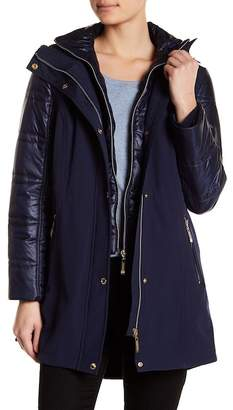Ellen Tracy Mixed Media Soft Shell Coat