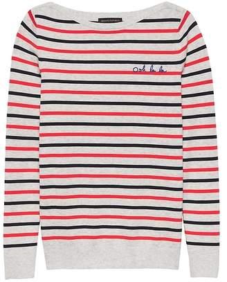Banana Republic Stretch-Cotton Embroidered Boat-Neck Sweater