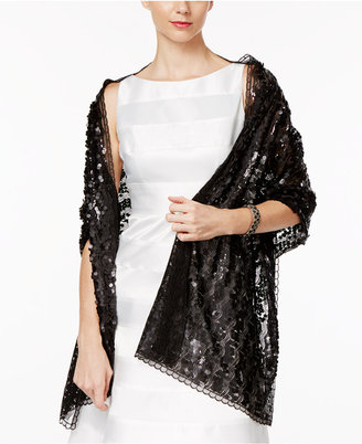 INC International Concepts Sequin Evening Wrap, Only at Macy's $48.50 thestylecure.com