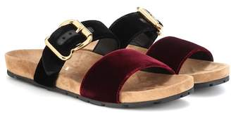 Prada Velvet slip-on sandals