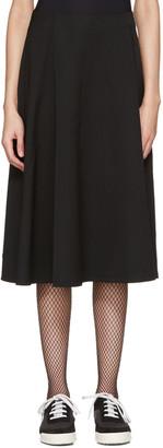 Tricot Comme des Garçons Black Asymmetric Skirt $515 thestylecure.com