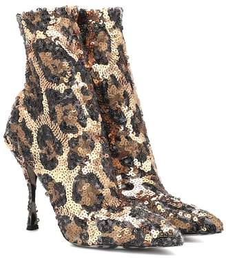 Dolce & Gabbana Sequined ankle boots