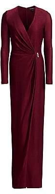St. John Women's Shimmer Wrap Knit Gown