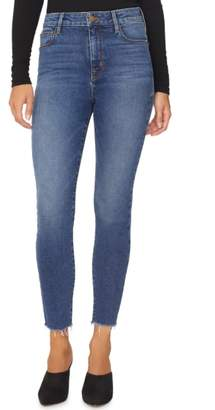 Sanctuary Social High Rise Frayed Ankle Skinny Jeans