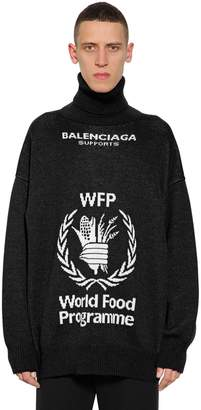 Balenciaga World Food Program Wool Sweater