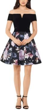 Xscape Evenings Floral-Skirt Dress
