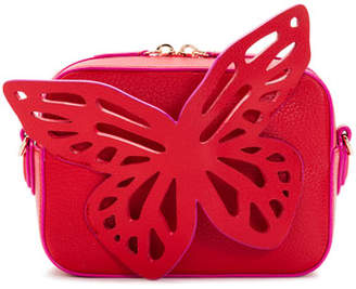 Sophia Webster Flossy Leather Butterfly Camera Bag with Contrast Piping