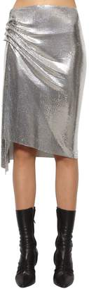 Paco Rabanne Draped Metal Mesh Midi Skirt
