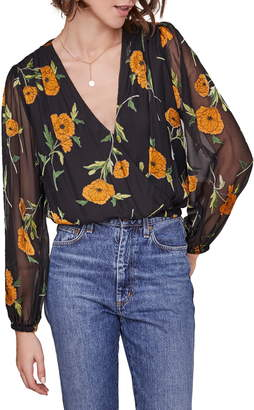 ASTR the Label Shanley Floral Wrap Top