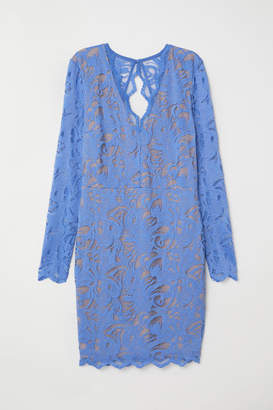 H&M Fitted Lace Dress - Blue