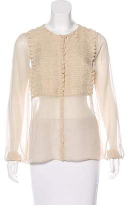 Akris Silk Ruffled Blouse
