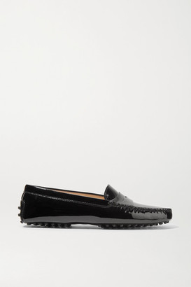 Tod's Gommino Patent-leather Loafers - Black