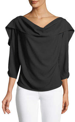 STYLEKEEPERS Picture Perfect Asymmetric Ruffled Top