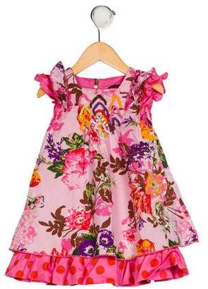 Catimini Girls' Floral Print Dress