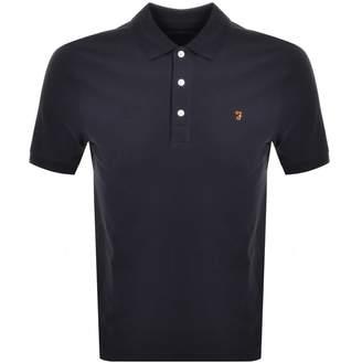 Farah Short Sleeved Polo T Shirt Navy