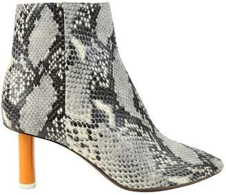 Vetements Python ankle boots