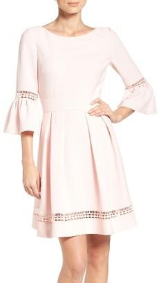 Women's Eliza J Bell Sleeve Dress $138 thestylecure.com