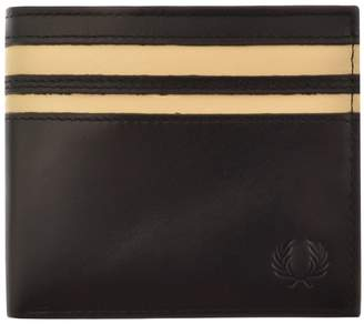 Fred Perry Cut And Sew Billfold Wallet Black