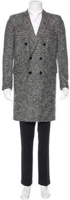 Saint Laurent 2013 Virgin Wool & Llama Mélange Coat