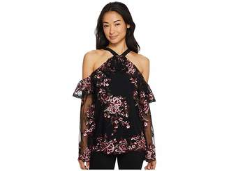 2bfe6be6a2e4f at 6pm.com · Karen Kane Embroidered Cold Shoulder Ruffle Top Women s  Clothing