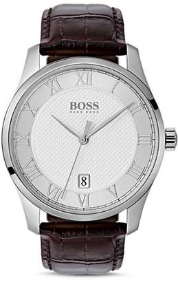 HUGO BOSS BOSS HUGO by Master Brown Croc-Embossed Leather Watch, 41mm
