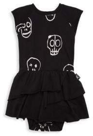 Nununu Baby's Skull Mask Onesie Skirt