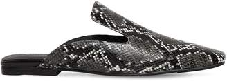Jeffrey Campbell 10mm Snake Print Leather Mules