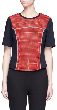 3.1 Phillip Lim 3.1 Phillip Lim Surf plaid lace-up back top
