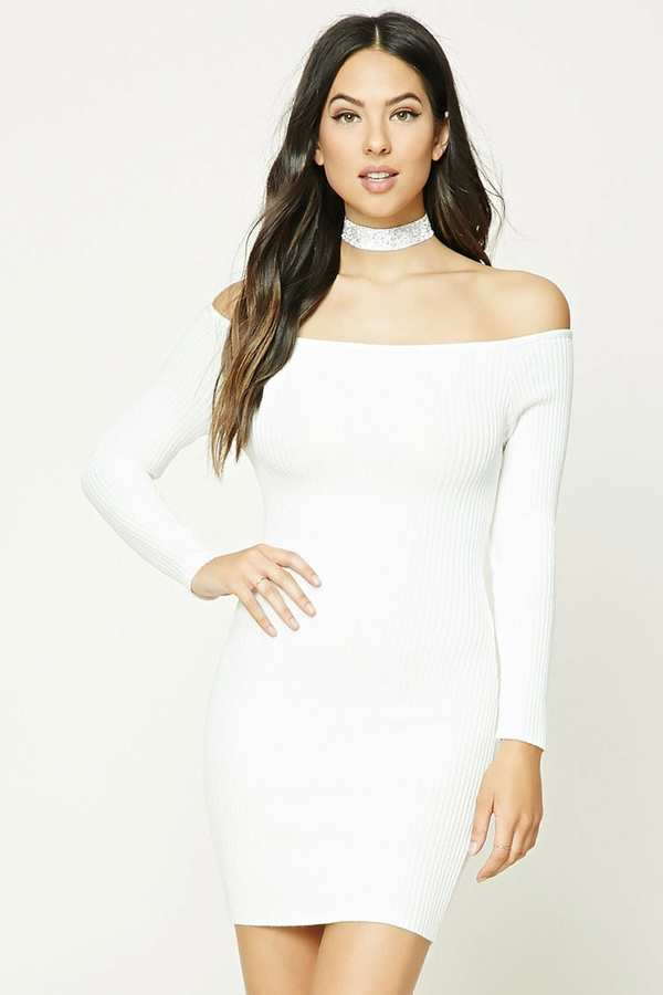FOREVER 21+ Off-The-Shoulder Bodycon Dress