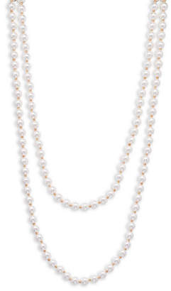 Cezanne Faux Pearl Double-Strand Necklace