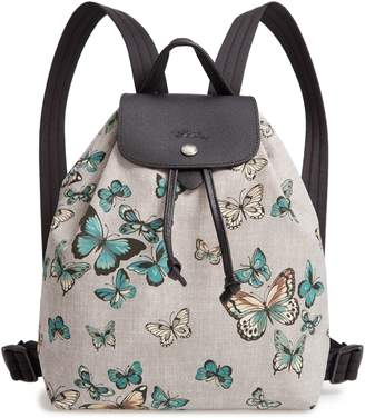Longchamp Le Pliage Butterfly Print Backpack