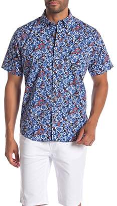 Tailor Vintage Short Sleeve Stretch Fit Printed Shirt