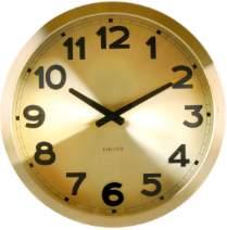 Karlsson Station Wall Clock - Gold
