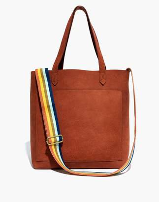 Madewell The Medium Transport Tote in Nubuck Leather: Rainbow Strap Edition