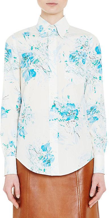Prada Women's Floral Cotton Poplin Blouse