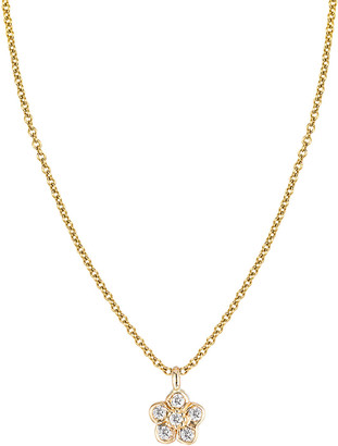 Ariana Rabbani 14K Diamond Flower Necklace