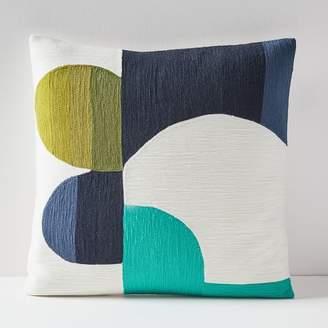 west elm Crewel Cut Out Curves Pillow Cover
