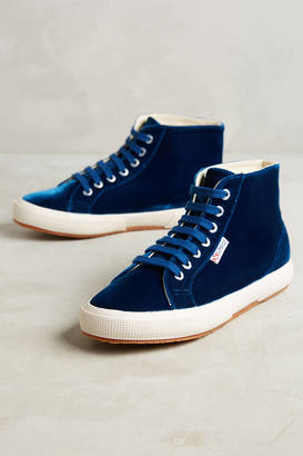 Superga Velvet High-Tops $138 thestylecure.com
