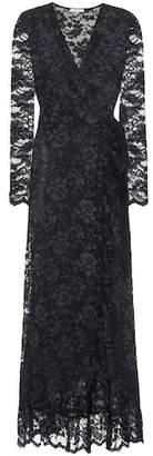 Ganni Flynn lace wrap dress