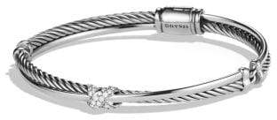 David Yurman X Crossover Bracelet With Diamonds, 3Mm