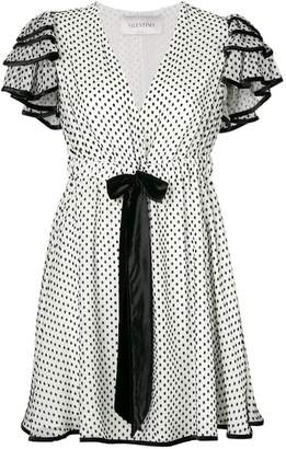 Valentino polka dots drawstring dress