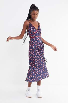 Finders Keepers Valentina Cherry Ruched Midi Dress