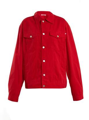 Katharine Hamnett Ted Oversized Denim Jacket - Womens - Red