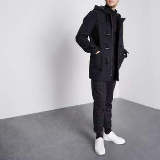 River Island Mens Navy duffle coat