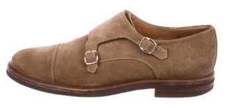 Brunello Cucinelli Cap-Toe Monk Strap Shoes
