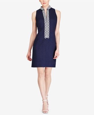 American Living Lace-Trim Jacquard Dress $79 thestylecure.com