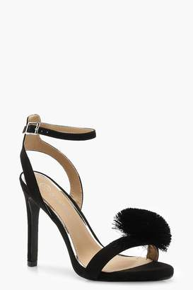 boohoo Wide Fit Pom Pom Two Part Heels