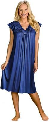 "Shadowline Women's Silhouette 40"" Short Cap Sleeve Waltz Gown"