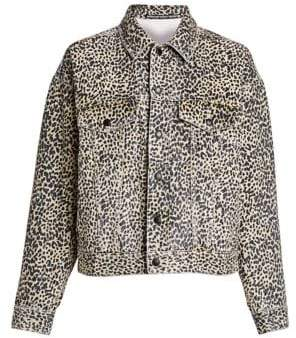 Alexander Wang Cheetah-Print Denim Jacket